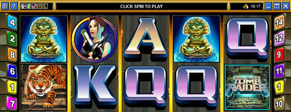 Tomb Raider video slot game